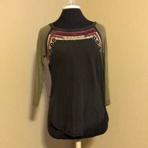 Free people mirrored top